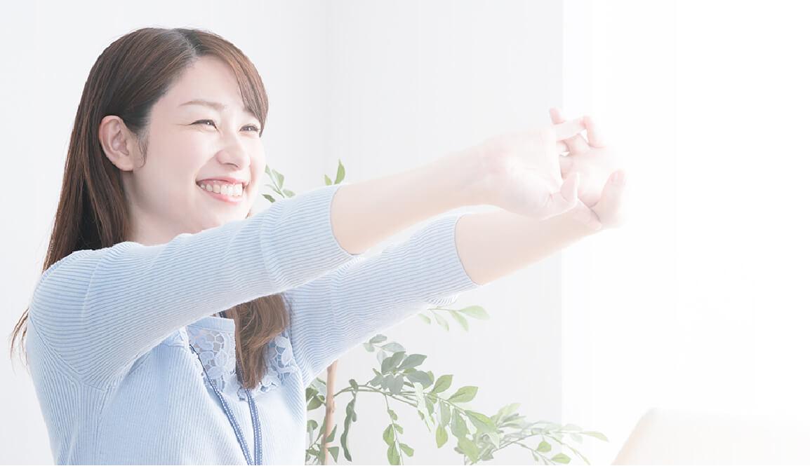 冷え性が改善して喜ぶ女性の笑顔
